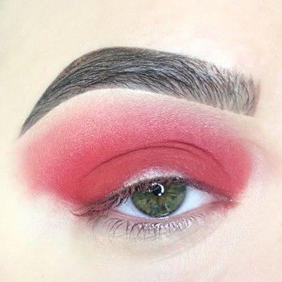 How to create a cut crease eye makeup look. Red Cut Crease Tutorial - Step 4