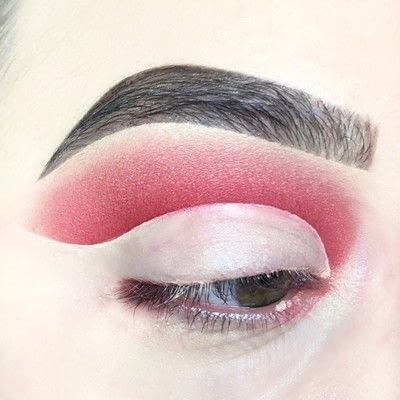 How to create a cut crease eye makeup look. Red Cut Crease Tutorial - Step 5