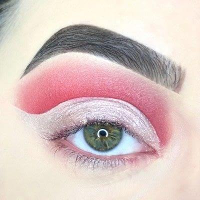 How to create a cut crease eye makeup look. Red Cut Crease Tutorial - Step 6
