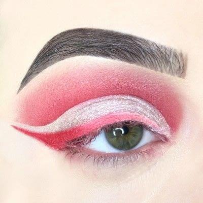 How to create a cut crease eye makeup look. Red Cut Crease Tutorial - Step 8