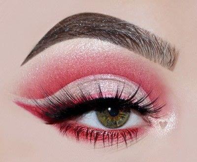 How to create a cut crease eye makeup look. Red Cut Crease Tutorial - Step 9