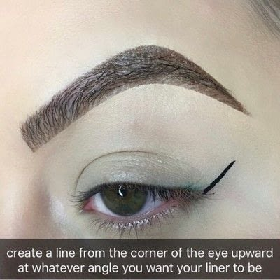 How to create a winged eye look. Simple Winged Eyeliner Tutorial - Step 2