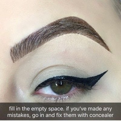 How to create a winged eye look. Simple Winged Eyeliner Tutorial - Step 4