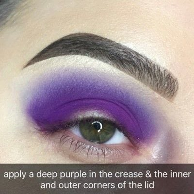 How to create a two toned eye makeup look. Purple Halo Eye Tutorial - Step 2
