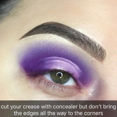 How to create a two toned eye makeup look. Purple Halo Eye Tutorial - Step 3