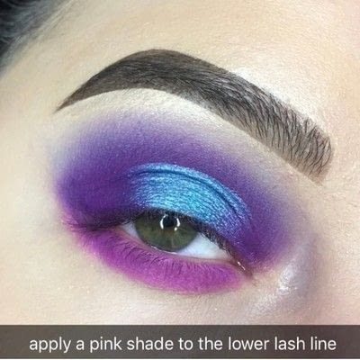 How to create a two toned eye makeup look. Purple Halo Eye Tutorial - Step 5