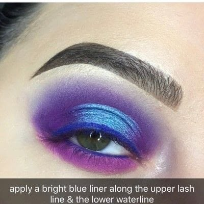 How to create a two toned eye makeup look. Purple Halo Eye Tutorial - Step 6