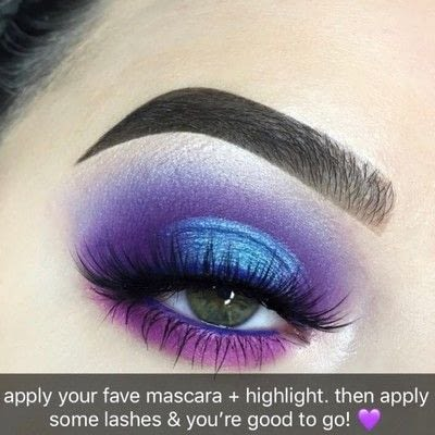 How to create a two toned eye makeup look. Purple Halo Eye Tutorial - Step 7