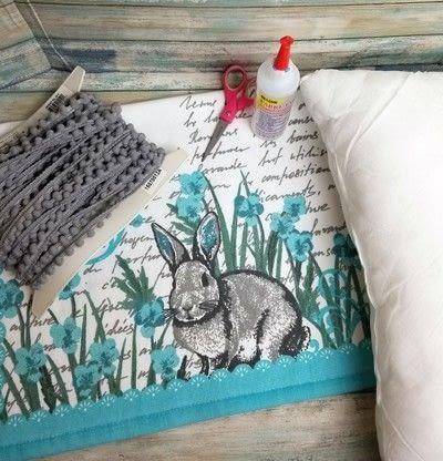 How to make a pillow. Tea Towel Pillow - Step 1