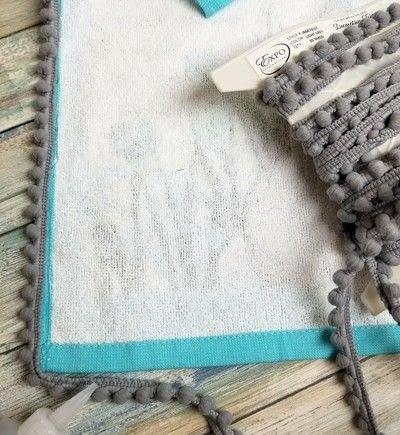 How to make a pillow. Tea Towel Pillow - Step 2