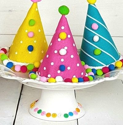 How to make a party hat. Polka Dot Party Hats! - Step 3