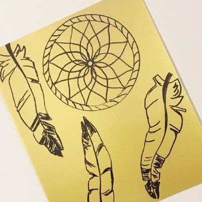 How to make a piece of paper art. Shrink Plastic Dreamcatcher - Step 1