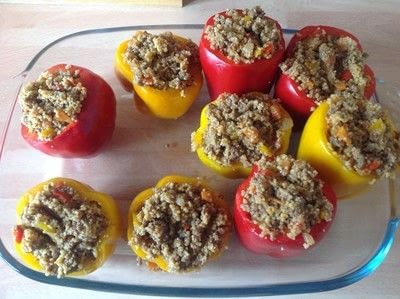 How to make a filling. Stuffed Peppers  - Step 6