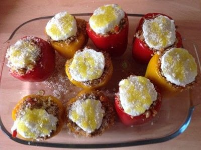 How to make a filling. Stuffed Peppers  - Step 8
