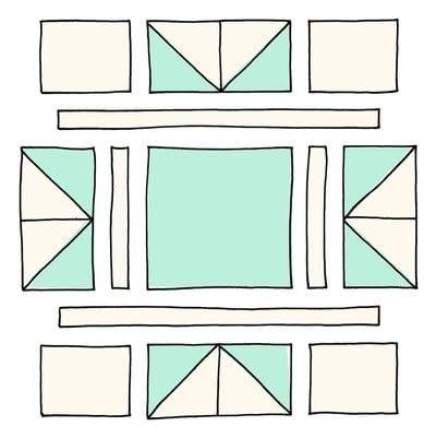 How to make a patchwork quilt. Modern Stars Quilt - Step 3