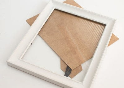 How to make a framed decoration. 10 Minute Diy Provincial Dried Lavender Frame - Step 1