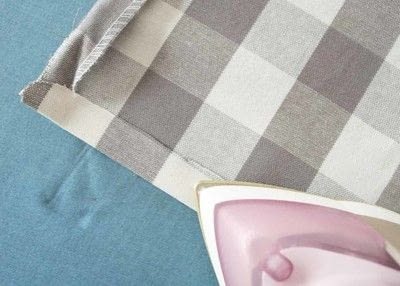 How to make a curtain/blinds. Quick & Easy No Sew Cafe Curtains - Step 5