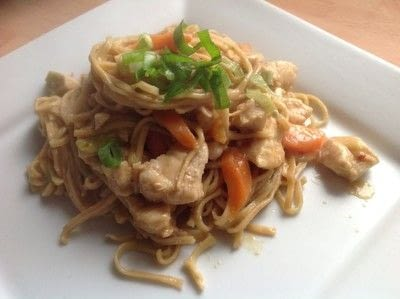 How to cook a chicken dish. Thai Peanut Noodles - Step 7