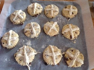 How to cook a baked treat. Hot Cross Scones - Step 7