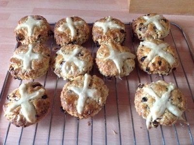 How to cook a baked treat. Hot Cross Scones - Step 8