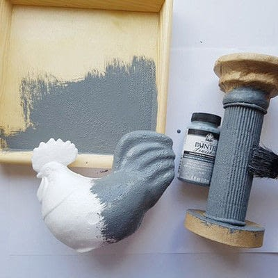 How to make a recycled model. Brocante Hen On A Pedestal - Step 1