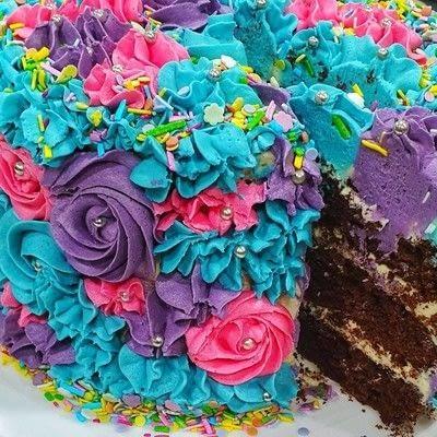 How to bake a chocolate cake. 3 Tier Chocolate Cake - Step 14