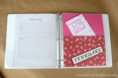 How to make a journal. Birthday Binder - Step 1