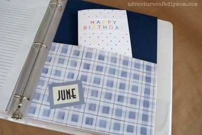 How to make a journal. Birthday Binder - Step 5