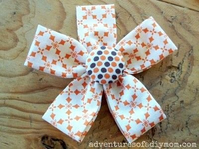 How to make a flowers & rosettes. Fabric Flowers - Step 4