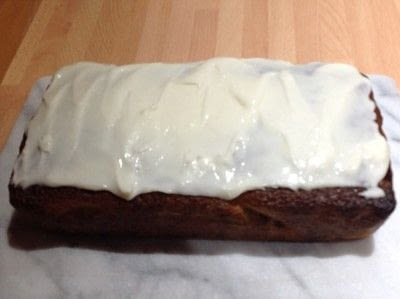 How to bake a sponge cake. Almond & Chocolate Chip Loaf - Step 7