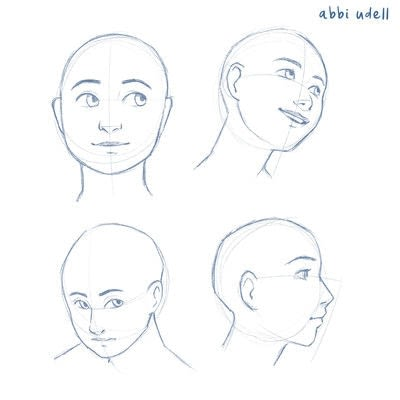 How to create a portrait. Basic Faces - Step 3