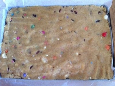 How to bake a bar / slice. Easter Egg Cookie Bars - Step 5