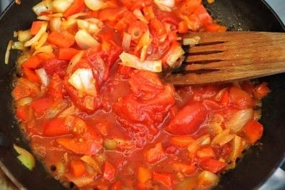 How to cook a vegetable dish. Shakshouka - Step 6