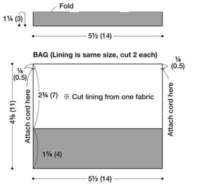 How to make a drawstring pouch. Mini Drawstring Bag - Step 1
