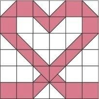 How to make a patchwork quilt. Candy Hearts Quilt - Step 3