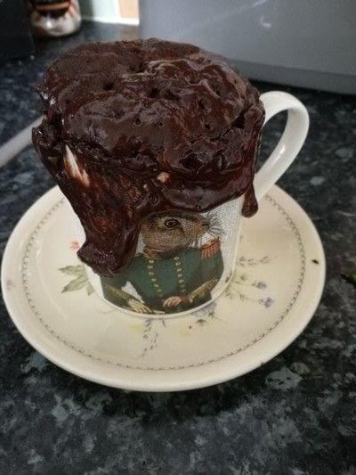 How to bake a chocolate cake. Chocolate Courgette Mug Cake - Step 6