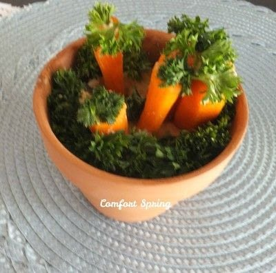 How to cook a vegetable dish. Colorful Carrot Patch Appetizer - Step 4