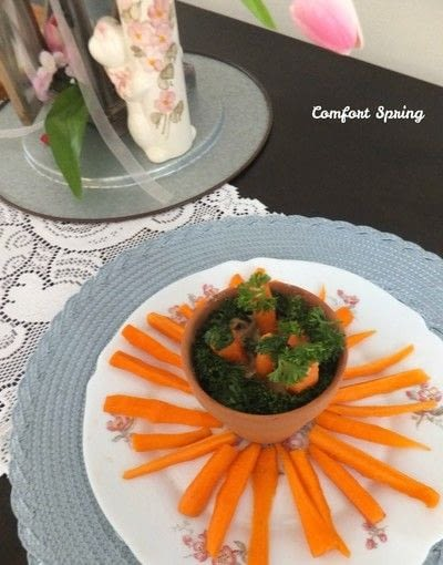 How to cook a vegetable dish. Colorful Carrot Patch Appetizer - Step 5