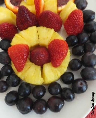 How to make a fruit salad. Spring Fruit Platter and Fruit Salad - Step 2