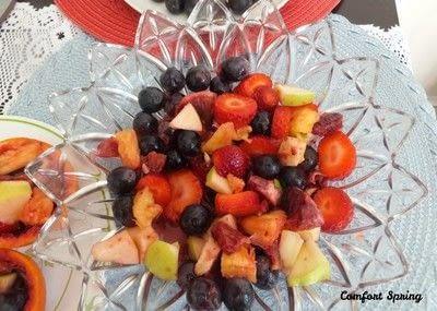 How to make a fruit salad. Spring Fruit Platter and Fruit Salad - Step 4