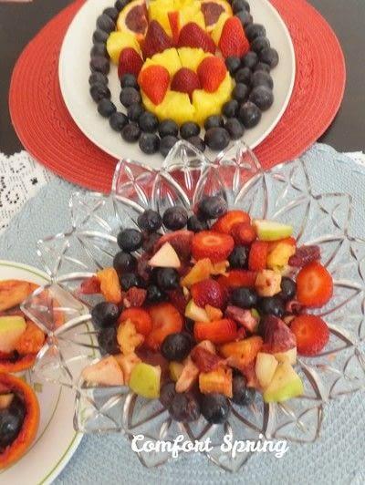 How to make a fruit salad. Spring Fruit Platter and Fruit Salad - Step 5