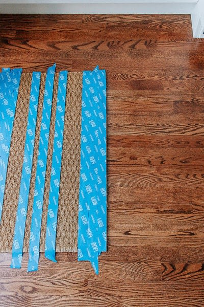 How to make a door mat. Diy Spray Painted Doormat - Step 1