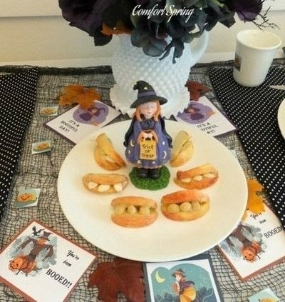 How to make a fruit dessert. Fun And Tasty Monster Teeth Treats For Halloween - Step 2