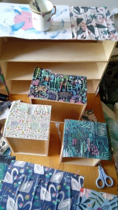 How to make a decoupage box. Desk Drawer Re Vamp! - Step 1