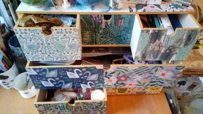 How to make a decoupage box. Desk Drawer Re Vamp! - Step 6