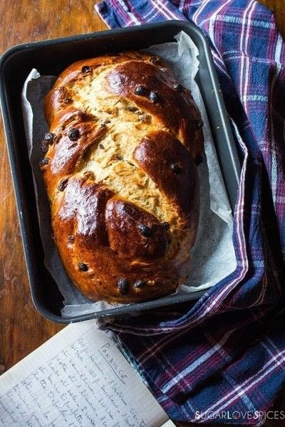 How to bake  sweet / dessert bread. Pandolce, Sweet Braided Bread With Raisins - Step 13