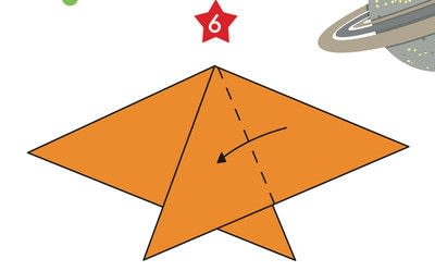 How to fold an origami shape. Origami Star - Step 6