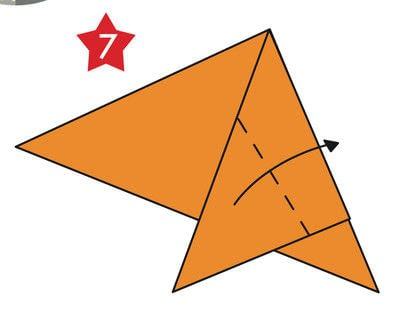 How to fold an origami shape. Origami Star - Step 7