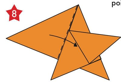 How to fold an origami shape. Origami Star - Step 8