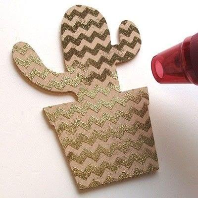 How to make a piece of paper art. Geometric Cactus Trio - Step 6